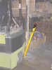 Bollard - Spring Loaded Steel -- SPBOL-ABK