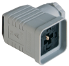 GDMW High-Voltage Line DIN Standard Field Attachable Connector: Form A, 4-pin (3+1PE; PE across cable outlet), grey housing, screw type, PG11; without circuitry, 400 V AC/DC, 16 A -- GDMW 3011 DF grey - Image