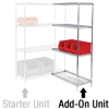 "36in x 12in x 54"" - 4 Shelf - Wire Shelving Add-On Unit -- WS361254A - Image"