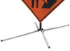 Sign Stand,Traffic,Spring Base,Alum -- 1UBP3