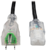 Hospital-Grade Computer Power Cord with Clear Plugs, 13A, 16 AWG (NEMA 5-15P to IEC-320-C13), 15 ft. -- P006-015-HG13CL