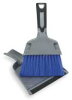 Mini Dust Pan With Brush,Silver And Blue -- 2ZPC5