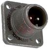 connector,metal circ,box mount recept,no bkshl,size 10sl,2 #16 solder pin cont -- 70143515