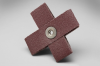 3M 341D A/O Aluminum Oxide AO Cross Pad 50 Grit - 4 in Width x 4 in Length - 2 in Pad Thickness - 27734 -- 051141-27734 - Image