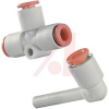 Tee; 3/16 in.; 19.5 mm x 2; 3.5 mm (Min.); 11.4 mm; 1.0 MPa (Max.); White; -- 70070429 - Image