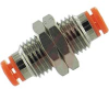 Fitting, mini bulkhead union, 1/2-20UNFthread, for 1/4 OD tube -- 70071169 - Image