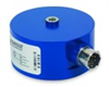 PCB L&T Canister load cell, 25 lbf (111 N) rated capacity, 50% static overload protection, 2mV/V output, 1/4-28 UNF-2B threads, PT02E-10-6P connector, aluminum construction -- 1102-05A -- View Larger Image