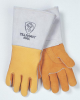 850 Stick Welding Gloves - Gold top grain elkskin > SIZE - L > STYLE - 12/Pr/Pk > UOM - Pair -- 850-L