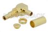 1.0/2.3 Jack Right Angle Bulkhead Connector Crimp/Solder Attachment For RG58, .236 inch DD Hole -- PE44260 - Image