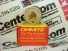 OHMITE RHS6R0 ( RHEOSTAT, WIREWOUND, 6 OHM, 25W, TRACK RESISTANCE:6OHM, PWR RATING:25W, PRODUCT RNG:RHS SERIES, POTENTIOMETER MOUNTING:PANEL, ADJUSTMENT TYPE:SCREWDRIVER SLOT, NO. OF TURNS:1TURNS, ... -- View Larger Image