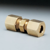 Compression coupling, brass, 1/2
