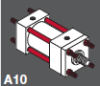Series A Pneumatic Cylinder - NFPA Style MDX -- Double Rod End - Image