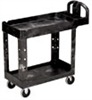 4500-88 BLACK - Rubbermaid 4500-88 Low-cost plastic service cart; 30