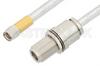 SMA Male to N Female Bulkhead Cable 6 Inch Length Using PE-SR401FL Coax -- PE34163-6 -Image