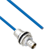 Plenum Cable Assembly TRB Insulated Bulk Head Jack 3-Lug Cable Jack to Blunt MIL-STD-1553 .150