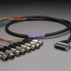 GEPCO 8CH DB25 Audio Snake Cable 25-PIN TO 3-PIN XLR FEMALES -- 20DA88512-DB25XJ-010