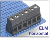 Assembled-to-Size Fixed Terminal Block -- ELM Horizontal Series -- View Larger Image