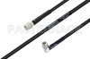 MIL-DTL-17 SMA Male to SMA Male Right Angle Cable 200 cm Length Using M17/28-RG58 Coax -- PE3M0120-200CM -Image