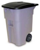 Rubbermaid® BRUTE® Rollout Cart-50Gal w/ Lid Gray -- 3559GR