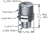 Precision Relief Valve, 30 ± 5 PSI Max, Stainless Steel Body -- A4454-3 -Image