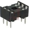 Socket, DIP;6Pins;Dual Leaf;Economy Ladder;0.3In.;Phosphor Bronze;Tin/Lead -- 70042908