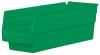 Akro-Mils 78 cu in Green Industrial Grade Polymer Shelf Storage Bin - 11 5/8 in Length - 4 1/8 in Width - 4 in Height - 1 Compartments - 30120 GREEN -- 30120 GREEN
