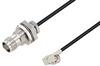 TNC Female Bulkhead to SMA Male Right Angle Cable 50 cm Length Using RG174 Coax -- PE3W03417-50CM -Image