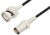 BNC Male to BNC Female Cable 12 Inch Length Using RG174 Coax -- PE3C3325-12 -Image