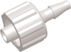 Locking Male Barb to Luer Male Straight Connector -- AP12MLFT06CL