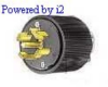 Locking Plug 30A 250VDC/600VAC 4P -- 78358523651-1