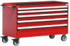 R Mobile Cabinet, with Partitions, 5 Drawers (60