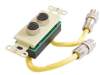 Cables To Go RapidRun Dual DIN Break-Away Wall Plate -- 42110