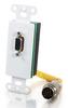 RapidRun® HD15 Wall Plate - White -- 2212-40735-001 - Image