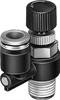LRL-1/4-NPT-QS-1/4-U Differential pressure regulator -- 190896 -Image