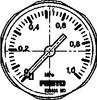 Pressure gauge -- MA-27-1,0-M5-MPA -Image