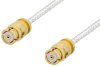 SMP Female to SMP Female Cable 48 Inch Length Using PE-SR047FL Coax -- PE36148-48 -Image