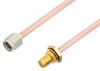 SMA Male to SMA Female Bulkhead Cable 48 Inch Length Using RG402 Coax, RoHS -- PE3C2892LF-48 -- View Larger Image