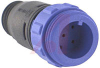 Cable Connector, In-Line; 6; Plug; 4.5 to 5.0 mm; Flex In-Line Body; 5 A; 125 -- 70098887