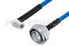 Plenum 7/16 DIN Male to QMA Male Right Angle Low PIM Cable 150 cm Length Using SPP-250-LLPL Coax , LF Solder -- PE3C5873-150CM -Image