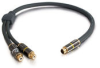 1.5ft SonicWave® One S-Video Male to Two RCA Coax Female Y-Cable -- 2202-40022-001