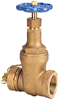 Gate Valve - Bronze, Fire Protection, Hose Cap and Chain -- T-103-HC