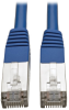 Cat5e 350 MHz Molded Shielded STP Patch Cable (RJ45 M/M), Blue, 3 ft. -- N105-003-BL - Image