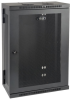 SmartRack 18U Low-Profile Patch-Depth Wall-Mount Rack Enclosure Cabinet, Hinged Back -- SRW18US13 -- View Larger Image
