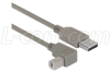 Right Angle USB Cable, Straight A Male/Down Angle B Male, 0.5m -- CAA-90DB-05M