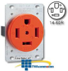 Leviton 3-Pole 4-Wire Grounding Flush Mount Receptacle.. -- 9460-IG - Image