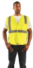 Occunomix Value ECO-IM Yellow XL Polyester Mesh Standard Vest - 2 Pockets - Fits 44 in Chest - 021844-61105 -- 021844-61105