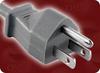 NEMA 5-15P GREY to IEC-60320-C13 GREY HOME • Power Cords • North American Power Cords • 3 Conductor Power Cords -- 2601.060 -Image