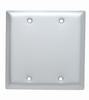 Blank Plates -- Box Mounted, Two Gang, Aluminum -- SA23
