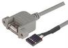 USB Type A Adapter, Female Bulkhead/Female Header 0.75M -- UPMA5-075M