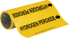Brady B-946 Black on Yellow Vinyl Self-Adhesive Pipe Marker - 12 in Height - 30 ft Length - Printed Msg = HYDROGEN PEROXIDE with Left Arrow - 15547 -- 754476-15547